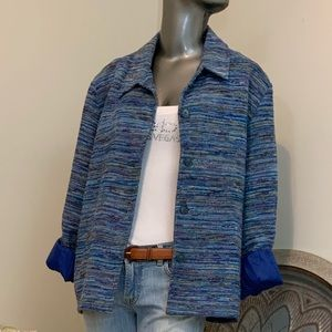 Coldwater Creek Beautiful Blues Blazer Jacket